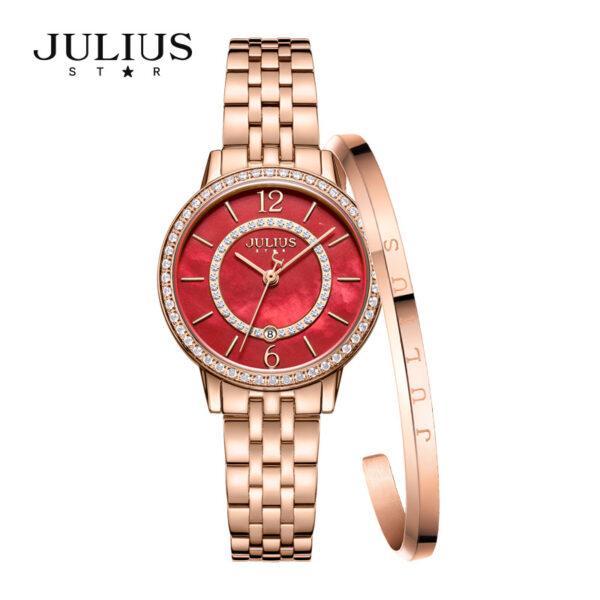 đồng hồ kim loại nữ julius star js 051